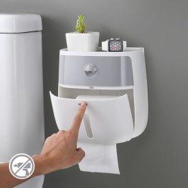 Держатель для туалетной бумаги из пластика клеющийся МВМ