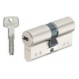 Цилиндр замка ABUS D15 ключ-ключ 70 мм 35х35 никель 5 ключей