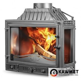 Каминная топка KAWMET W4 трехсторонняя 14,5 кВт 700x540x420 мм