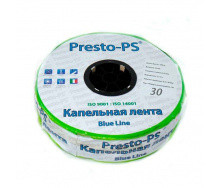 Крапельна стрічка Presto-PS щілинна Blue Line отвори через 30 см, витрата води 2,7 л/год, довжина 500 м (BL-30-500)