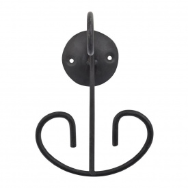 Крючок двойной в ванную комнату Trento Black and White черный