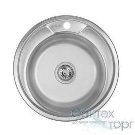 Мийка кухонна неіржавіюча сталь товщина 0,6 мм Imperial 490-A Satin