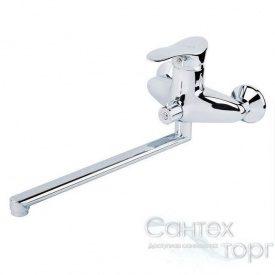 Смеситель для ванны и душа латунный Q-tap Eris 005 NEW CRM хром
