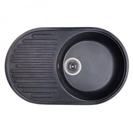 Мойка гранитная Fosto 74x46 SGA-420 цвет черный