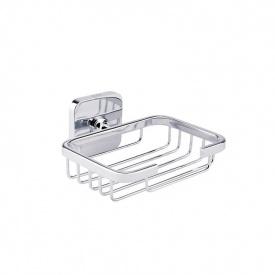 Настенная мыльница для ванной овальная решеткой GF Italy (CRM)/S- 2802-1