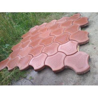 Тротуарна плитка вібролита Роккі 40 мм світло червона