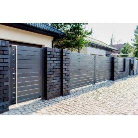 Забор Ранчо Grafit 7024 металл 0,5 мм 3000 мм