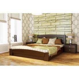 Деревянная кровать Селена Аури с технологией щит из бука 160x190 с 4 см между ламелями тёмный орех (101)