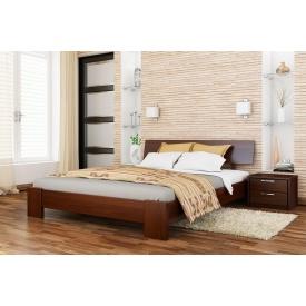 Деревянная кровать Титан с технологией массив из бука 140x190 с 4 см между ламелями тёмный орех (101)