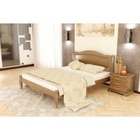 Дубове ліжко Комфорт 4 з дуба 90x200 без підйомного механізму BN-104