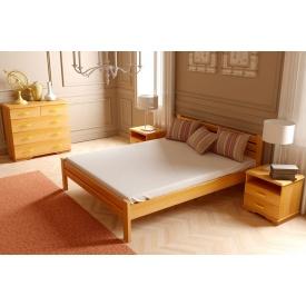 Дерев'яне ліжко Класика з дуба 90x200 з 3,2 см між ламелями вільха