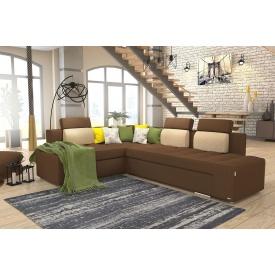 Кутовий диван Бридж з підголовниками з лівим розташуванням з тканини 1 категорії