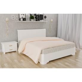 Деревянная кровать Милена с интарсией из бука 140x190 белый