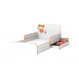 Дитяче ліжко Мандаринка з бортиками з ДСП/МДФ 90x190 біле дерево