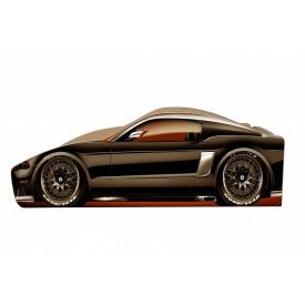 Ліжко-машинка Ford Mustang Бренд 70x150 без підйомного механізму основою з ДСП без ящиків