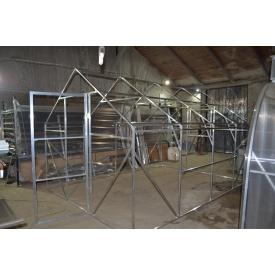 Каркас Алюминиевой двоскатной теплицы 3 м