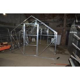 Каркас Алюминиевой двускатной теплицы 5 м