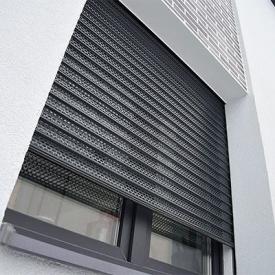 Автоматическая роллетная решетка с мелкой перфорацией ALUTECH Security 1700х2200мм