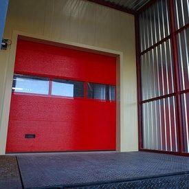 Промышленные ворота ALUTECH ProTrend 2875х3000 мм пурпурно-красный
