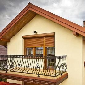 Рольставни на балкон Alutech система окно + дверь золотой дуб