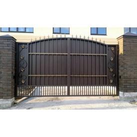 Кованые ворота металлические В-01109