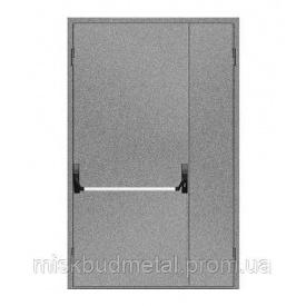 Протипожежні двері антипаніка 2100х1200 мм Міськбудметал ДМП 21-12 EI30 А