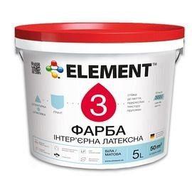 Краска интерьерная ELEMENT 3 водно-дисперсионная латексная 10 л