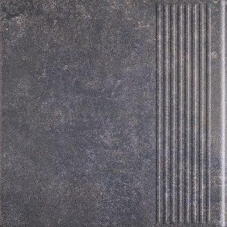 Клінкерний східець Paradyz Viano antracite stopnica prosta struktura 30x30 см