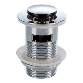 KOLO клапан сливной push–open для умывальников с переливом хром
