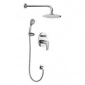 смеситель скрытого монтажа JESENIK для душа смеситель с переключ верхн душ 200 мм ручной душ 120 мм 3 режима