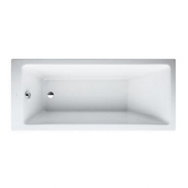 PRO ванна 1600x700x460 мм встроенная без рамы без панели с алюмин профилем для ножек белая