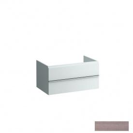 CASE шафка 79x52x32/45 см з 2-ма висувними шухлядками з сифоном відкритий зверху і з тилу колір світлий дуб