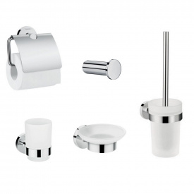 LOGIS набор аксессуаров крючок мыльница держатель туалетной бумаги стакан туалетная щётка (41711000+41715000+41723000+41718000+41722000)