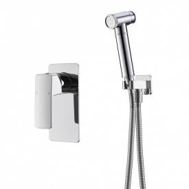 GRAFIKY набор смеситель скрытого монтажа с гигиеническим душем хром