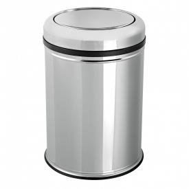 Відро для сміття з кришкою-перевертиш 16 л хром