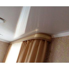 Монтаж карниза-гардины под натяжной потолок