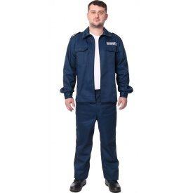 Спецодежда летний костюм охранника саржа 35% хлопка синий