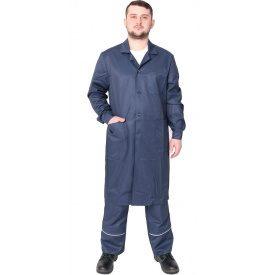Спецодяг чоловічий робочий халат грета ЧШК 53% бавовни темно-синій