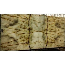 Онікс сіро білий з коричневими прожилками 2х160х210 см