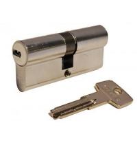 Цилиндр замка ABUS D6 ключ-ключ 80 мм 40х40 никель 5 ключей