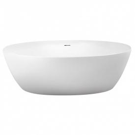 Ванна 170x82x58,5 см отдельностоящая овальная с сифоном