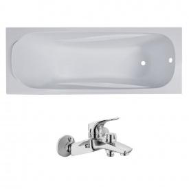 Комплект FIESTA ванна 170x70x43,5 см без ножек + ORLANDO смеситель для ванны хром 35 мм