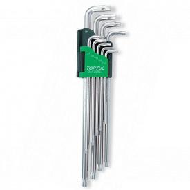 Г-образні ключі TORX TOPTUL T 10-T 50 9 од супердовгі GAAL 0923