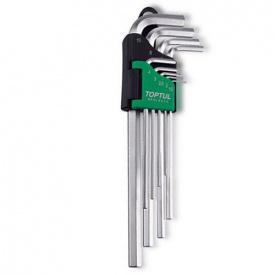 Ключі шестигранні подовжені TOPTUL 1,5-10 мм 9 од GAAL 0911