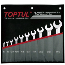 Набор рожковых ключей 6-32 мм TOPTUL 10 шт GPCJ1001