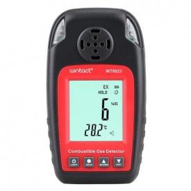 Детектор горючих газов + термометр 0-100%LEL 0-50 градусов Цельсия WINTACT WT 8823