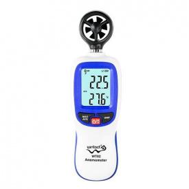 Цифровой крыльчатый анемометр 0,3-30 м/с -10-45°C WINTACT WT82