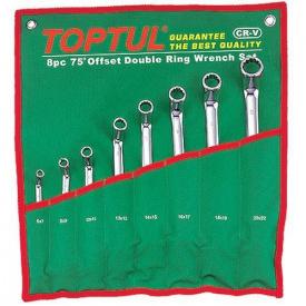 Набір накидних ключів TOPTUL 6-22 мм кут 45° 8 шт GPAH0804