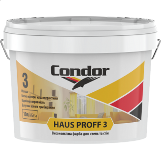 Високоякісна фарба для стель і стін Condor Haus Proff 3 10 л