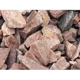 Бутовый камень кварцитовый красный
